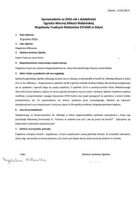 Sprawozdanie Gdynia 2016